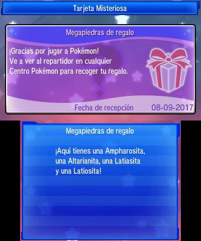 Codigos regalo misterioso pokemon y