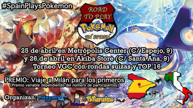 Cartel horizontal Road to Play Pokémon in Spain